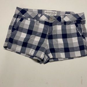 Aeropostale Plaid Pocket Shorts